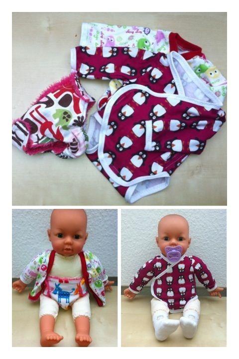 Puppenkleidung (Schnittmuster von Klimperklein) | Nähen für Puppen ...