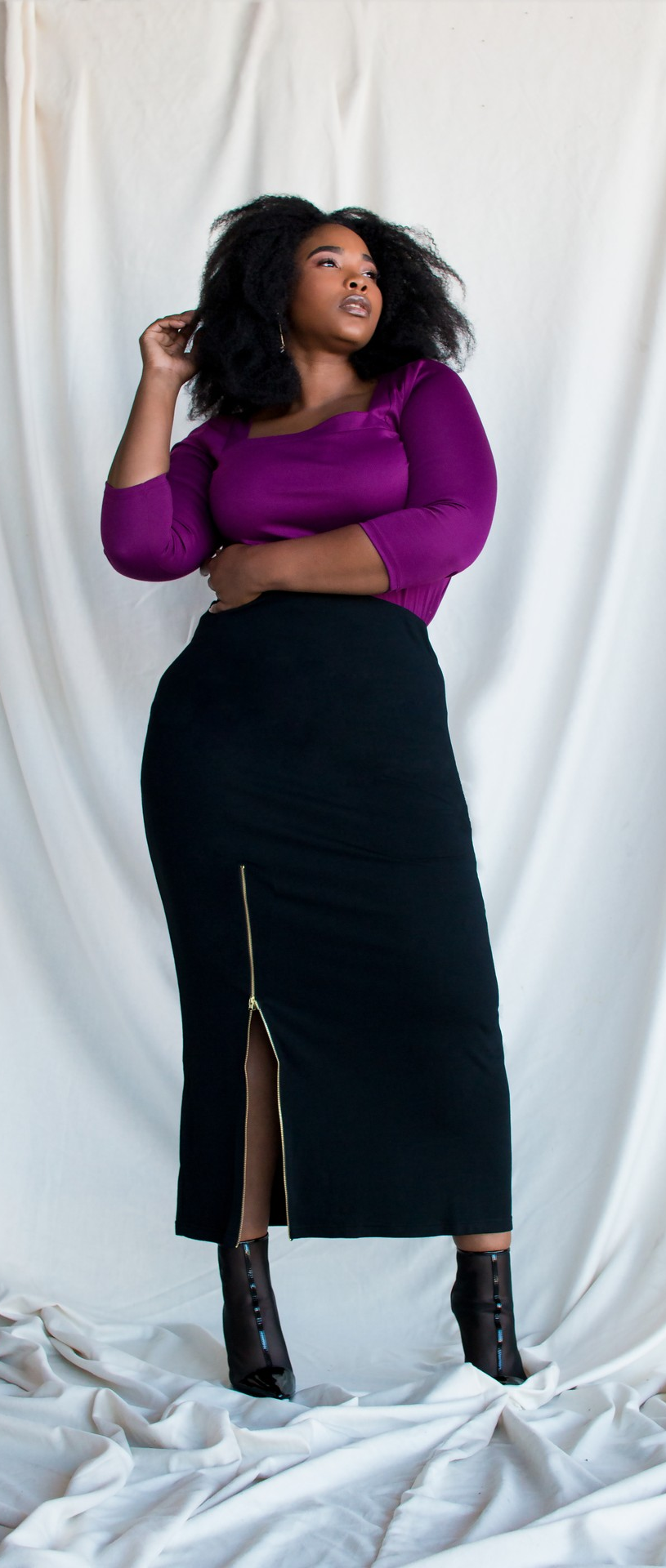 00f4a3a20e Glamorous💅✨ Shop For Our Black Kandi Maxi Skirt With Zip Up Split & More  @PoeticJusticeJeans.com (Sizes 14-24) ***Plus Size Clothing, Curvy Women,  ...