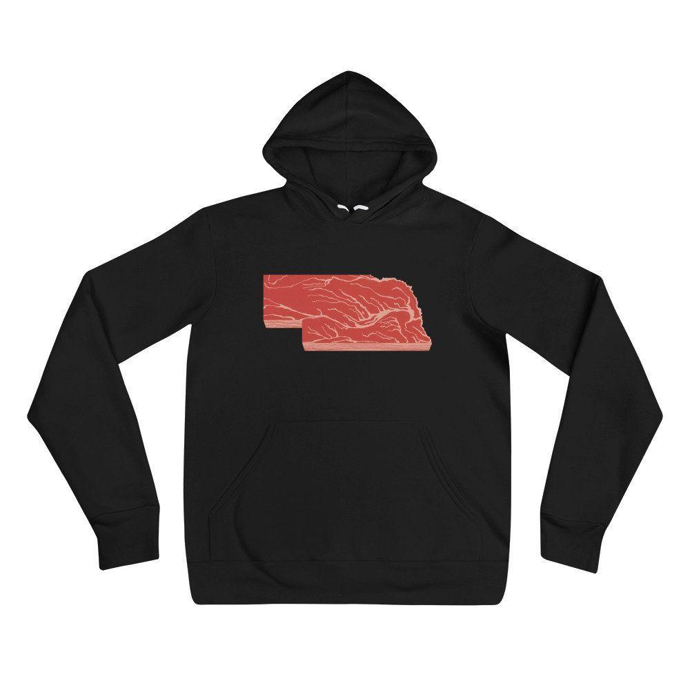 Nebraska Steak Pullover Hoodie Nebraska Sweatshirt Etsy Unisex Hoodies Hooded Sweatshirt Men Sweatshirts [ 1000 x 1000 Pixel ]