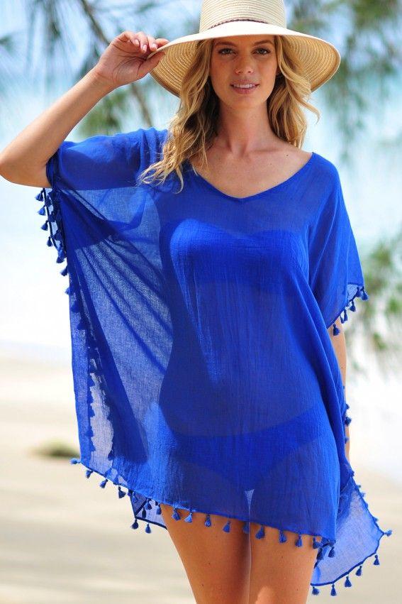 Seafolly Amnesia Kaftan - Blue Ray | ropa | Pinterest ...