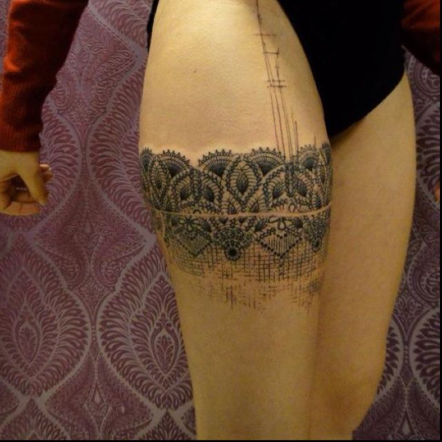 Best 25 lace thigh tattoos ideas on pinterest thigh for Why did lou leave tattoo fixers