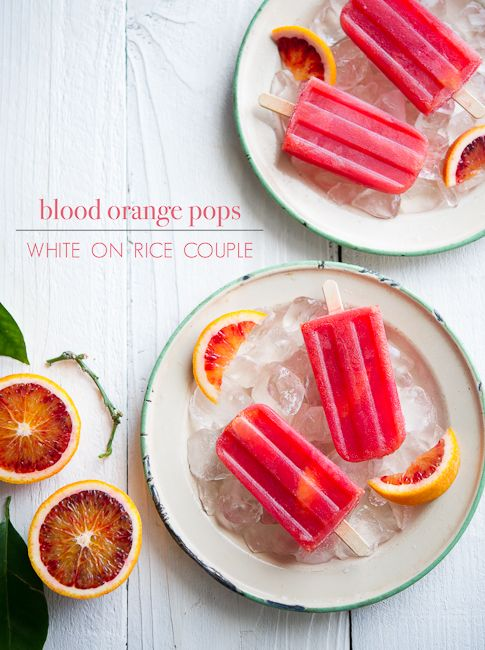Blood Orange Pops from Bi-Rite Creamery Sweet Cream & Sugar Cones from White on Rice Couple