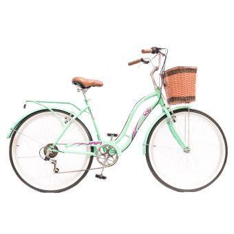 Jafi Bicicleta Mujer De Paseo Aro 26 Verde Bicicleta Mujer Bicicletas Ciclismo Femenino