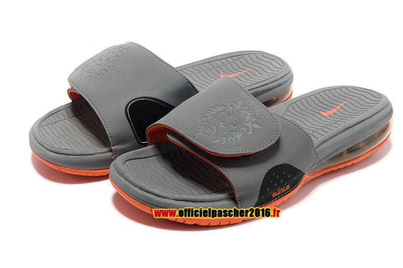 969814a10bb Officiel Nike LeBron 10 X Nike Air Sandales Nike 2016 Pas Cher Pour Homme  gris foncé