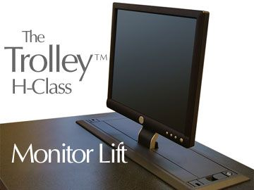 Motorized Monitor Lift Nova Trolley™ | Herman Residence