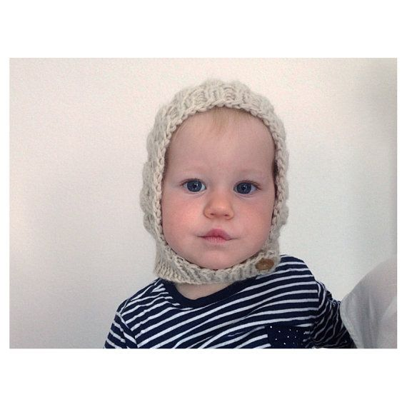 256df7f56 Knit bonnet for babies