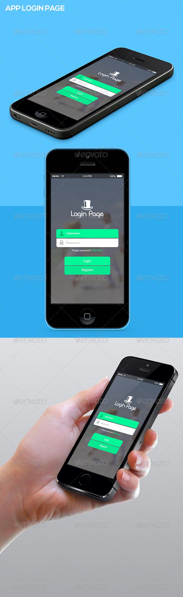 App Login Page in 2020 App login, Login page, Design