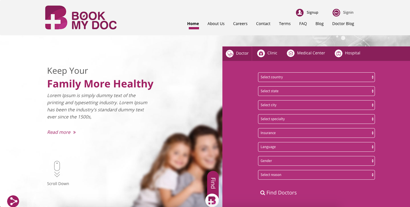 Online Doctor Appointment Booking System Book My Doctor