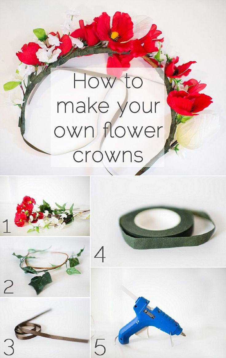 How To Make Flower Crowns Diy Pinterest Flower Crowns Crown