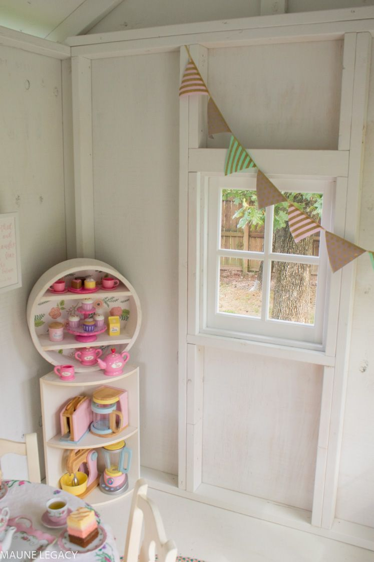 Arkansas lifestyle blogger jennifer from maune legacy shares outdoor playhouse decorating ideas kids will love click here to see them all also rh pinterest