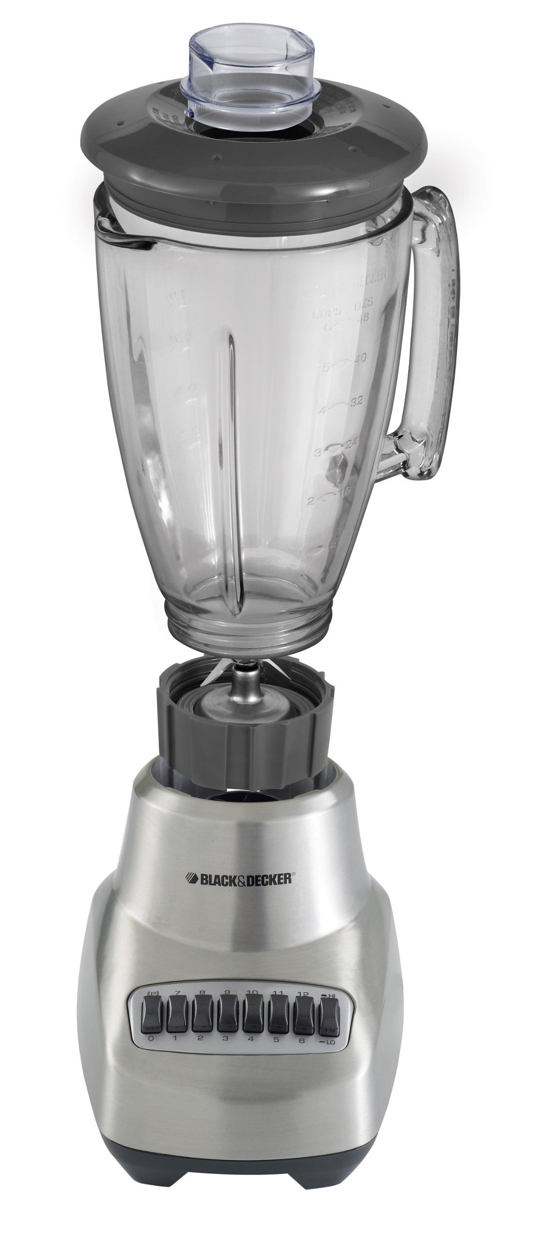 Black Decker Bl3500s Countertop Blender With 6cup Glass Jar 12