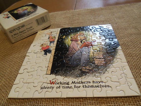 Vintage Springbok Mini Puzzle by Hallmark Working Mothers have plenty of time for themselves
