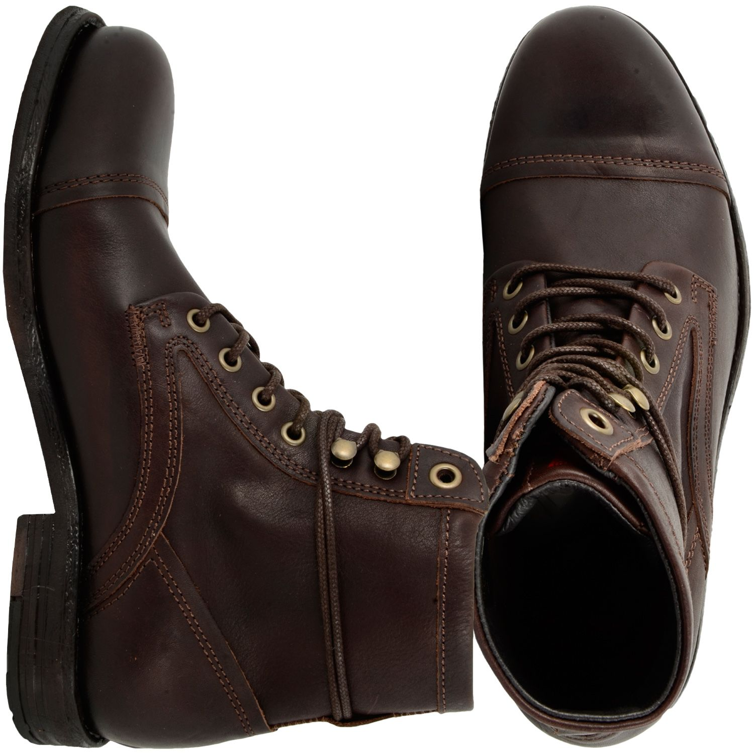 04b3824307 Levis Shoe Arizona Lace Up Men Boot dark brown | SE Super Style ...