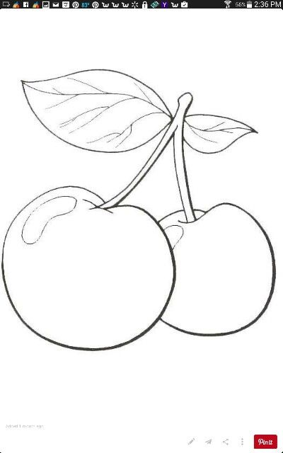 Cherries Fruit Coloring Pages Coloring Pages Free Coloring Pages