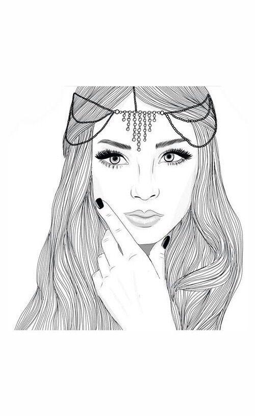 Dessin Fille Noir Et Blanc : dessin, fille, blanc, Drawings