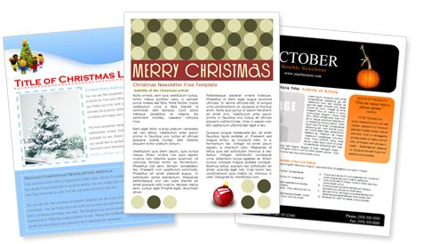 High School Newsletter - Word Template \ Publisher Template - newsletter templates free microsoft word