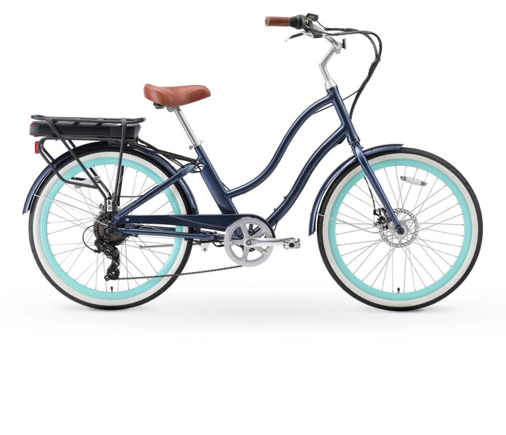 Sixthreezero Evryjourney Women S 26 500w 7 Speed Electric Hybrid Bicycle In 2020 Electric Bikes For Sale Best E Bike Hybrid Bicycle