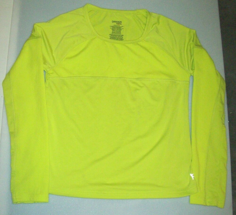 653f80d524a Danskin Now Fitted Athletic Top Dri More GIRLS Sz XL 14-16 Neon Yellow  Citrus #DanskinNow