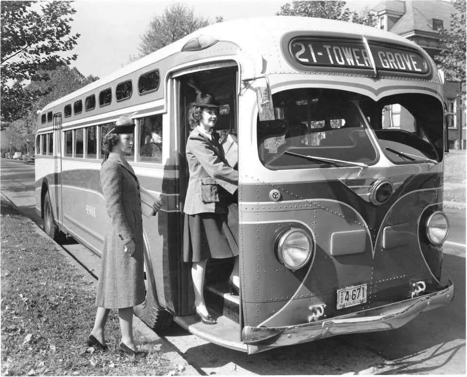 Old Photos of Nottingham in Nottinghamshire, England ... |Photos Old City Buses 1950