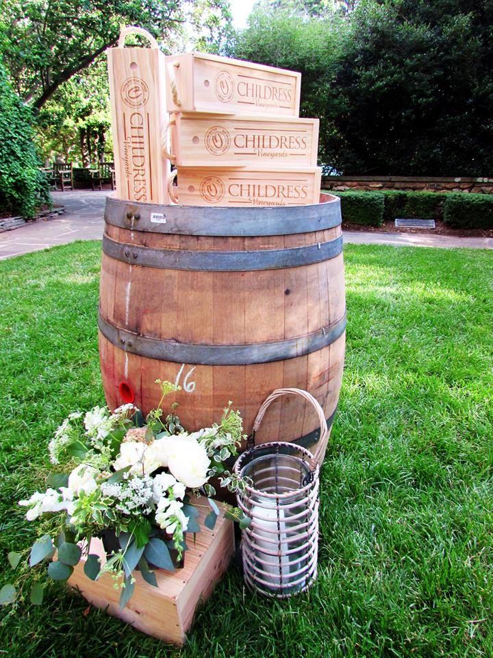 Nice wedding decor with Childress Vineyards wine boxes
