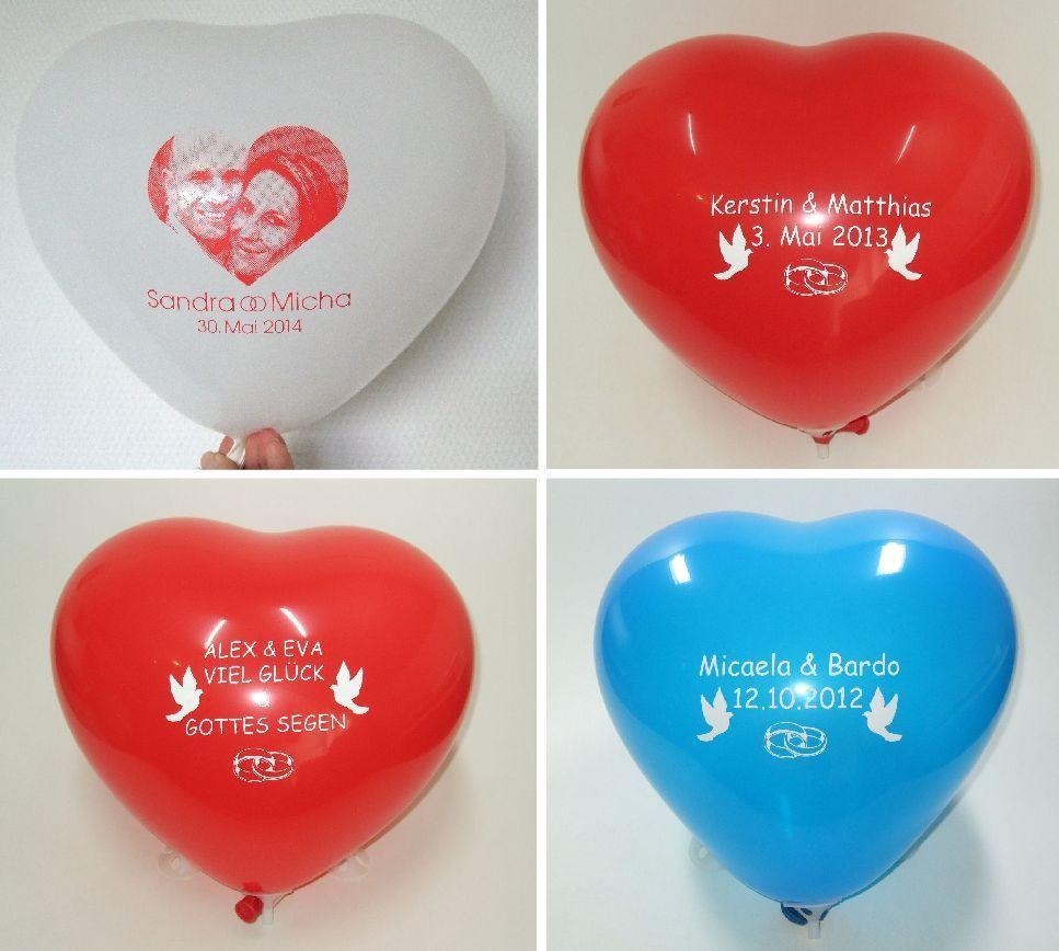 Bedruckte Luftballons Zur Hochzeit Luftballons Bedrucken Luftballons Hochzeit Luftballons