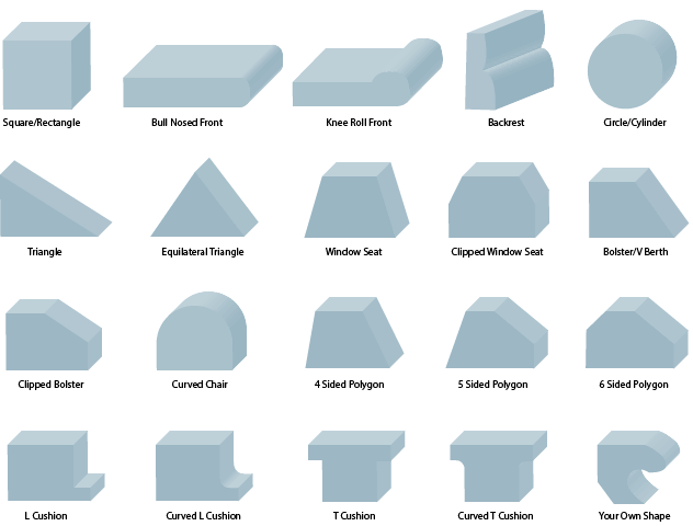 foam cut to size shape templates | Upholstery | Pinterest ...