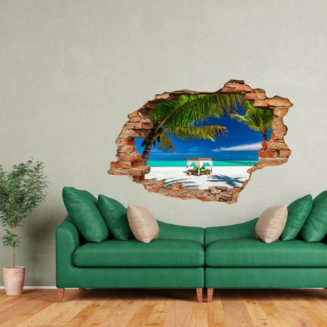 3d relax on the seaside | men's style | pinterest | wall sticker