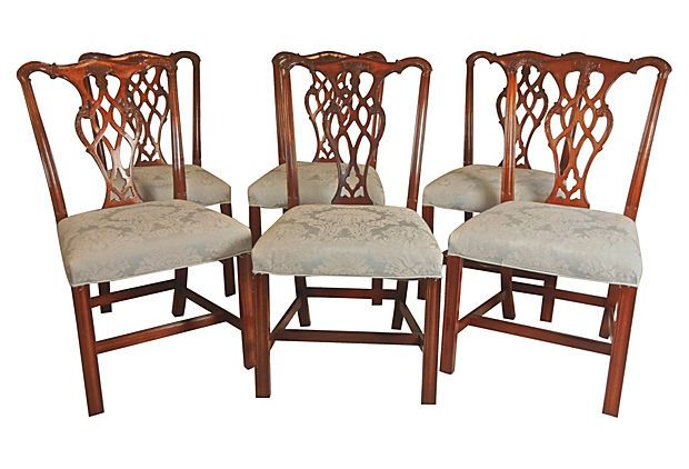 Set Of 6 Beautiful Chippendale Dining Side Chairs  Side Chair Interesting Chippendale Dining Room Set Decorating Inspiration