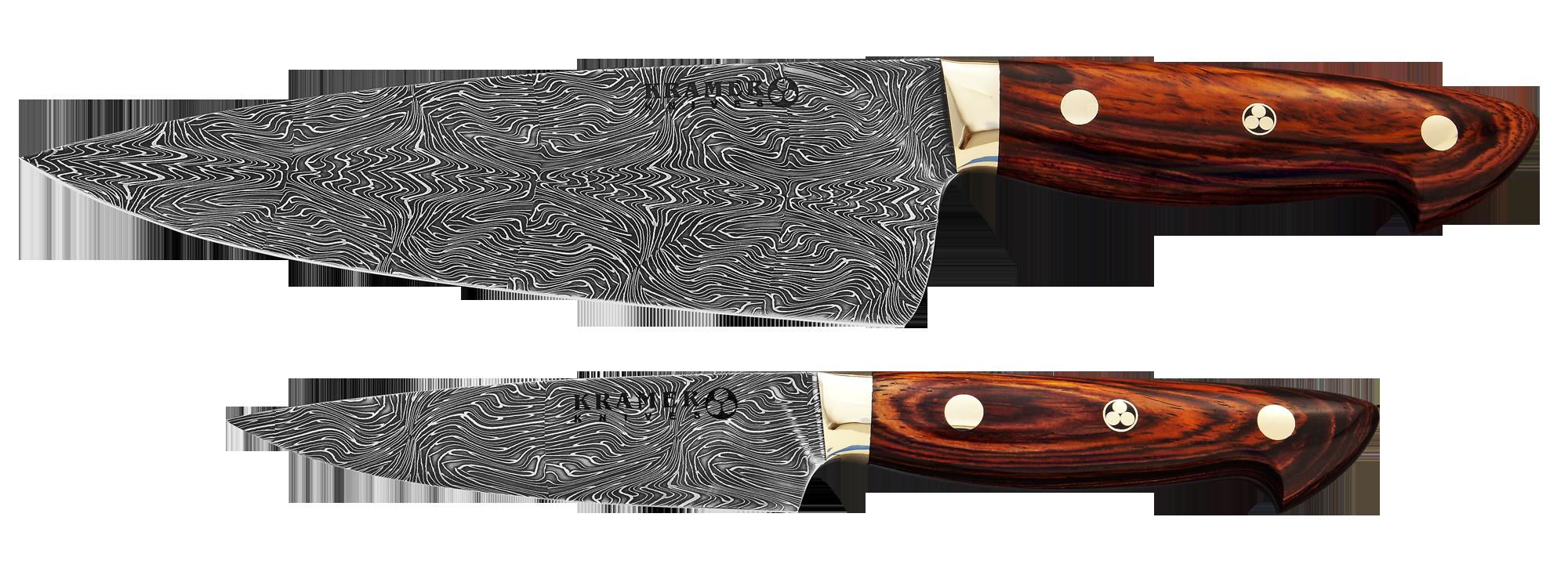 Bob Kramer Euro Chef & Utility Knives in Damascus Steel... | Kitchen Knives | Pinterest | Knives ...