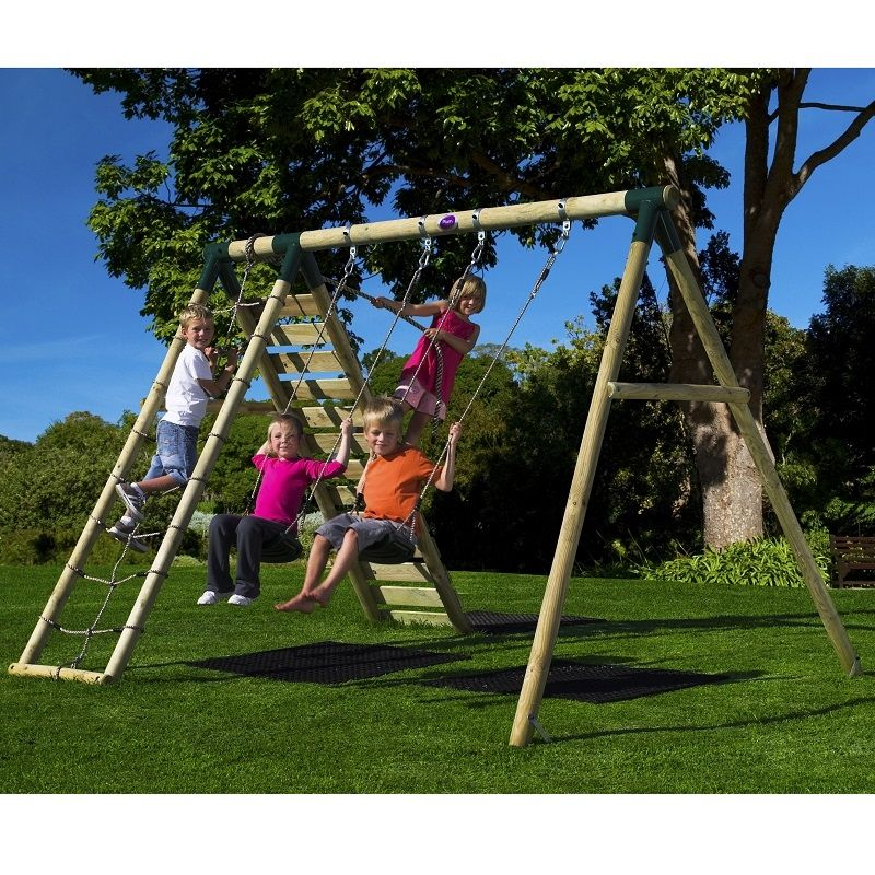 Plum Uakari Wooden Swing Set 27182 At All Round Fun Includes Two