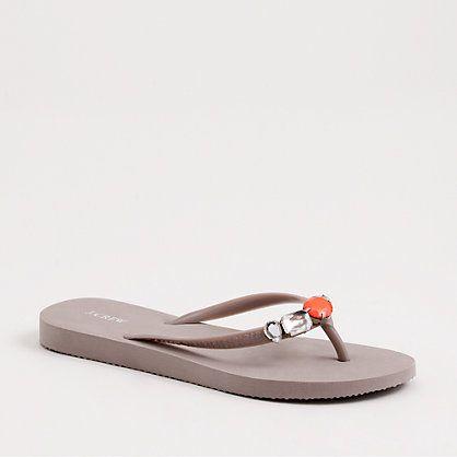 dd47d3c2a22d Boca jeweled flip-flops - Footwear