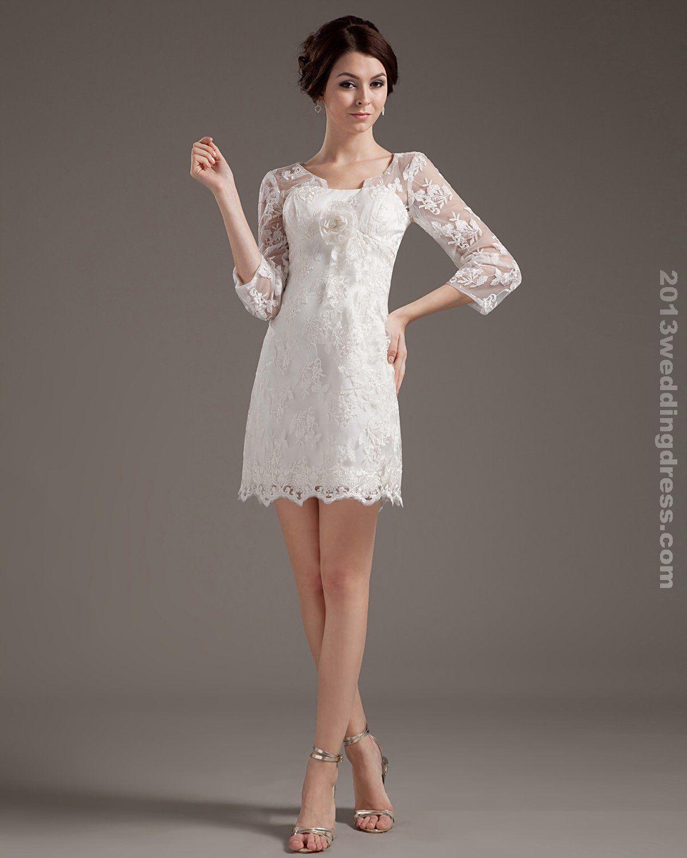 Short Wedding Dresses Lace Embroid Short Mini Wedding Dress Sale At 2013we Short Lace Wedding Dress Short Sleeve Wedding Dress Casual Beach Wedding Dress [ 1500 x 1200 Pixel ]