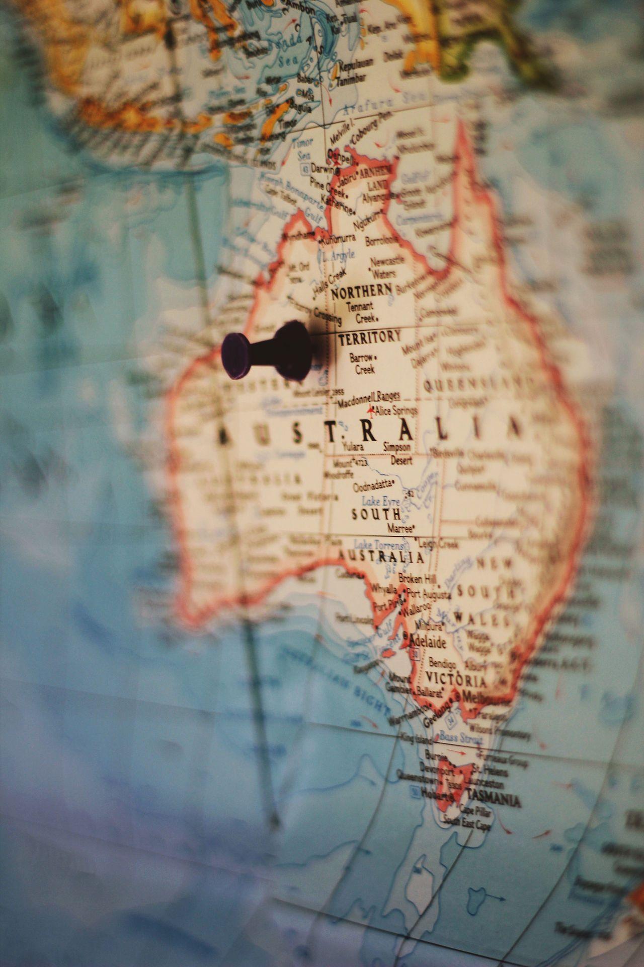 Dear Monet Australien Karte Australia Map Reisen