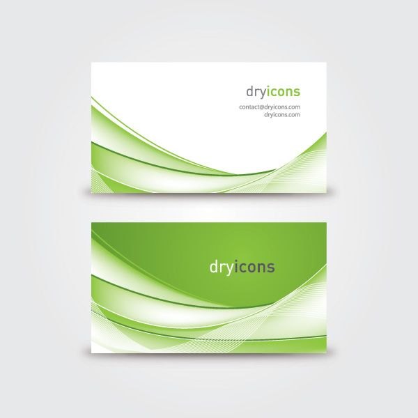 Wavy Business Card Vector Graphic By Dryicons Com Available