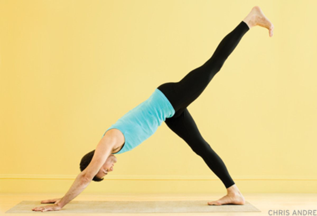 All-American Asana: One-Legged Down Dog   Yoga poses for ...