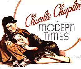 charilie chaplin modern times 1936 poster