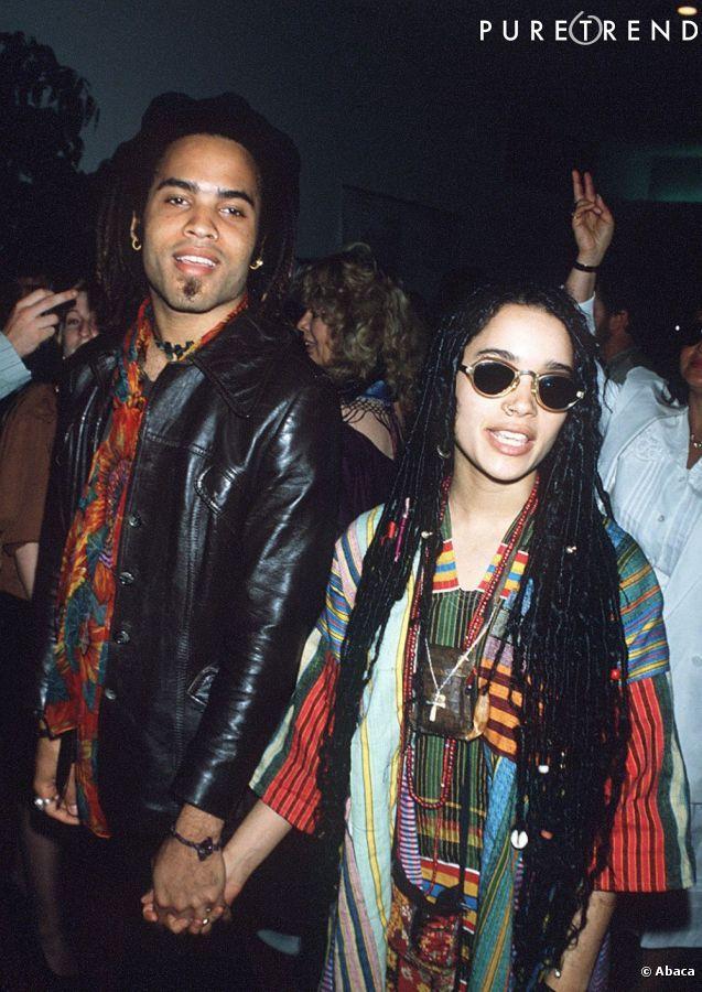 PHOTOS , Lenny Kravitz et Lisa Bonet  un mariage et une