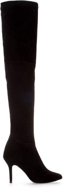 Zara High Heel Suede Boot - Lyst