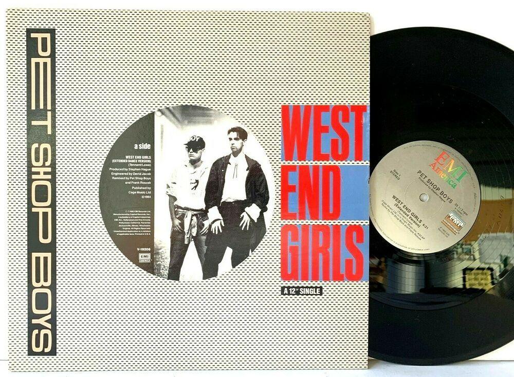 Details About Pet Shop Boys West End Girls Ext Dance Version 12