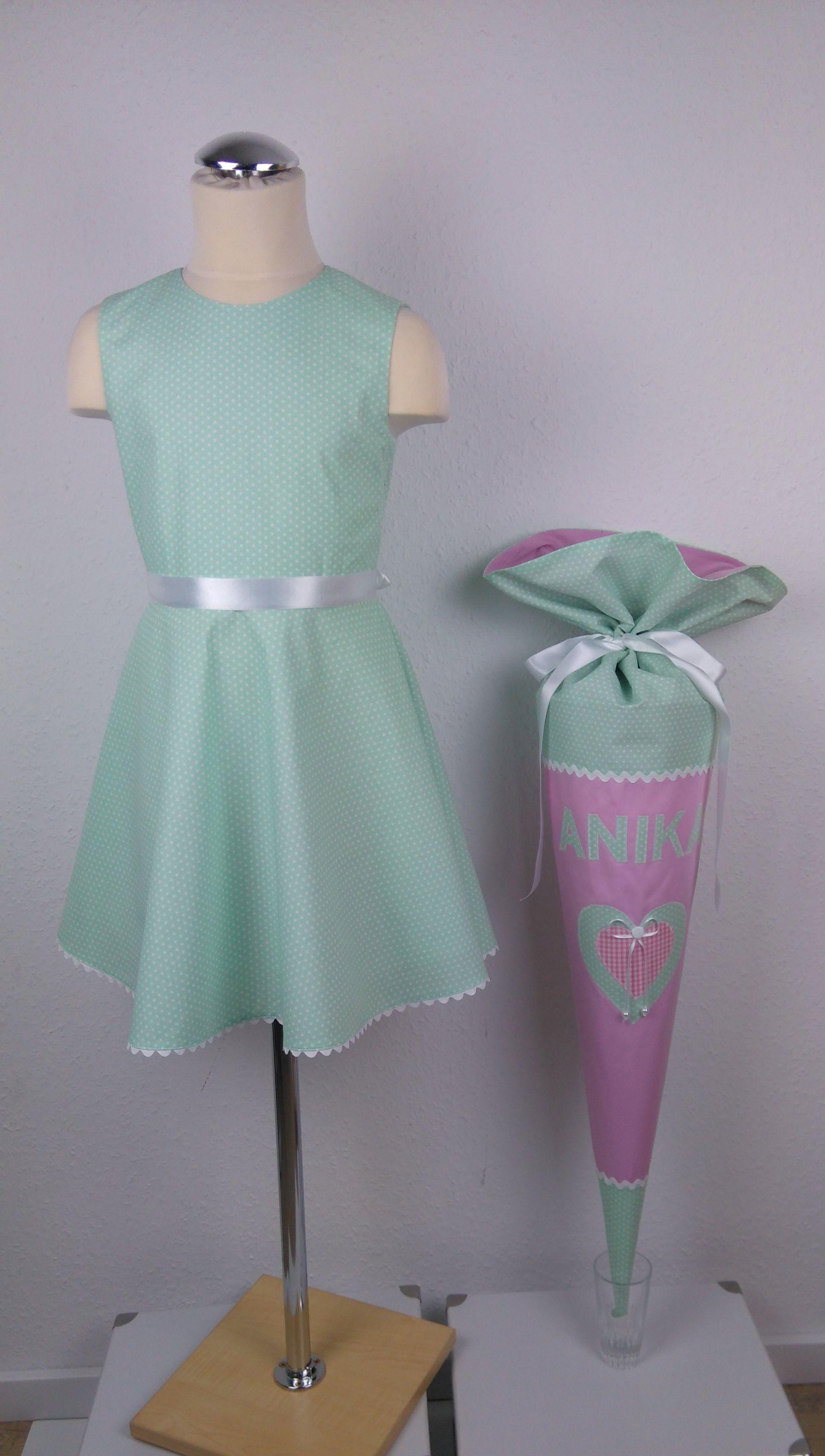 Schulkleid & Schultüte,handgefertigt,Kissenrohling ...
