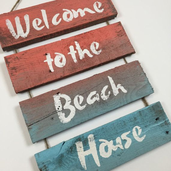 This Welcome Sign Is Great For Any Coastal Decor What A Fun Piece