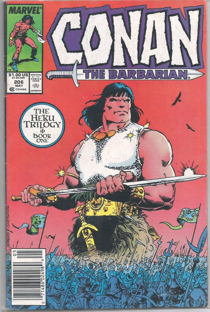 1987 Marvel Conan The Barbarian 206 The Heku Trilogy Book One