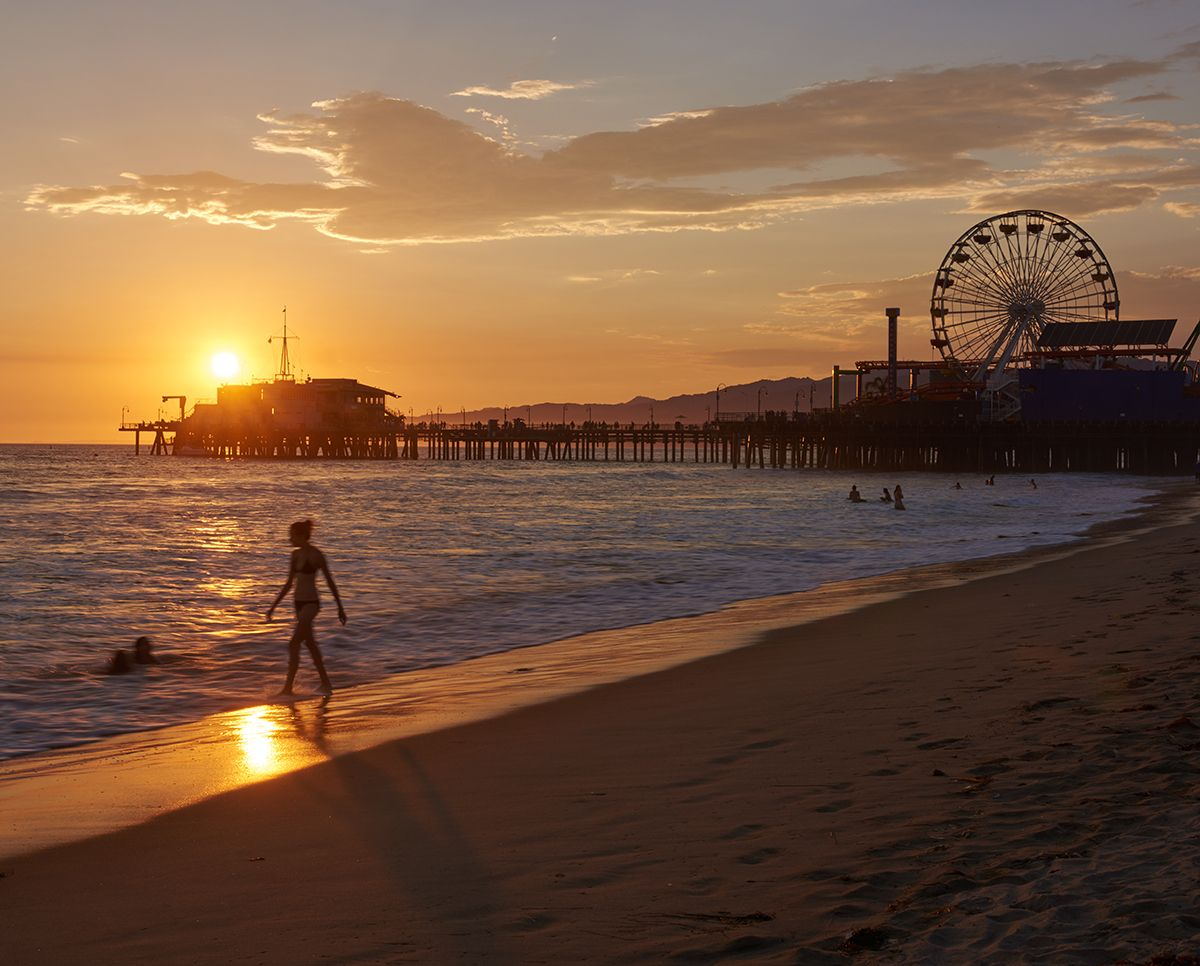 When was your last sunset beach stroll? Santa Monica, California ...   title   your sunset