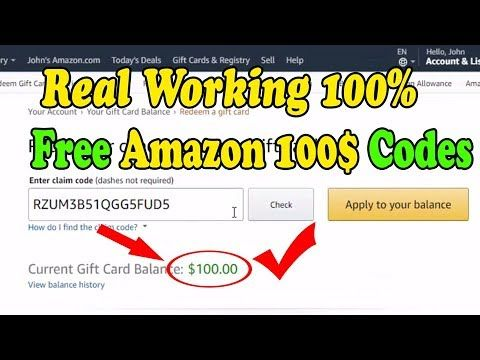100 Real Free Amazon Gift Card Free Amazon Products Amazon
