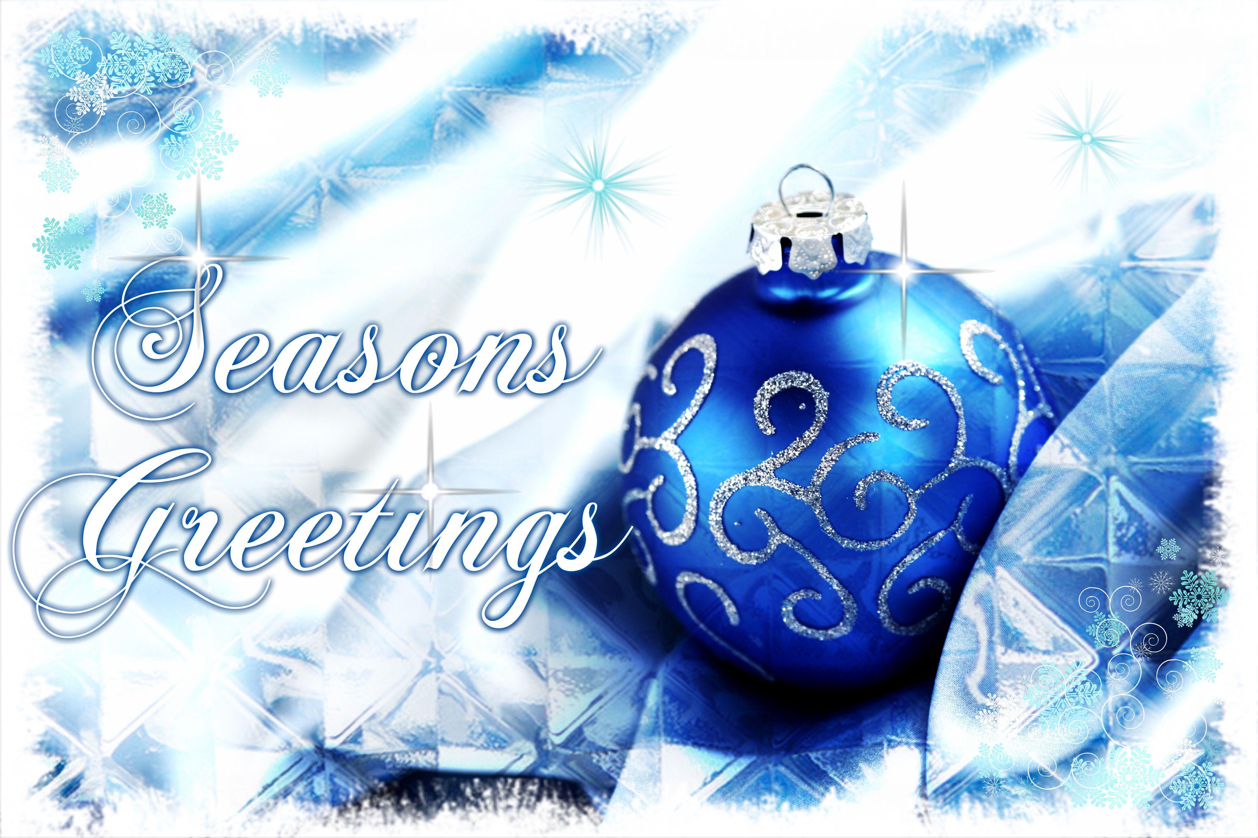 Seasons greetings blue holiday silver christmas ornament christmas seasons greetings blue holiday silver christmas ornament christmas quotes noel seasons greetings m4hsunfo
