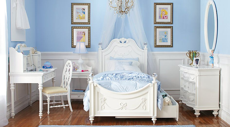 Disney Princess White 5 Pc Twin Poster Bedroom - Twin ...