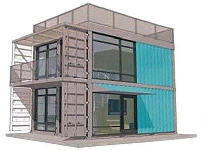 Conceptual mockup of the Schnitzelburg Container Apartments ...