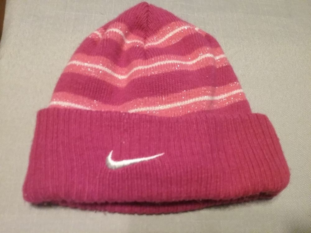 68b3da963c568 Nike Sparkly Pink Striped Toddler Winter Hat chinstrap  fashion  clothing   shoes  accessories