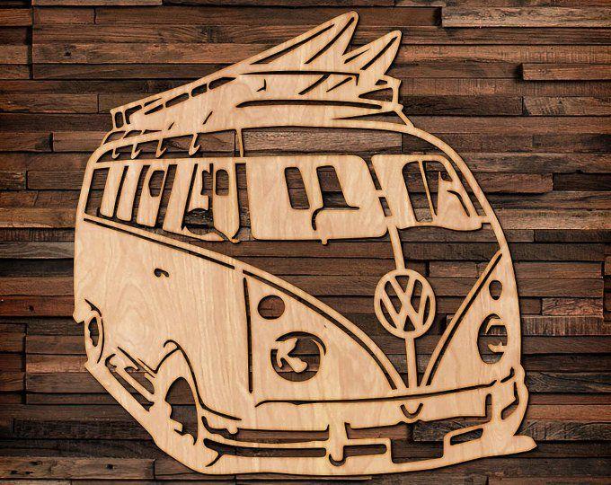 Volkswagen Bus Bug Wood Hanging Wall Art Holz Gravieren Kunst Wandkunst Und Cnc Holz