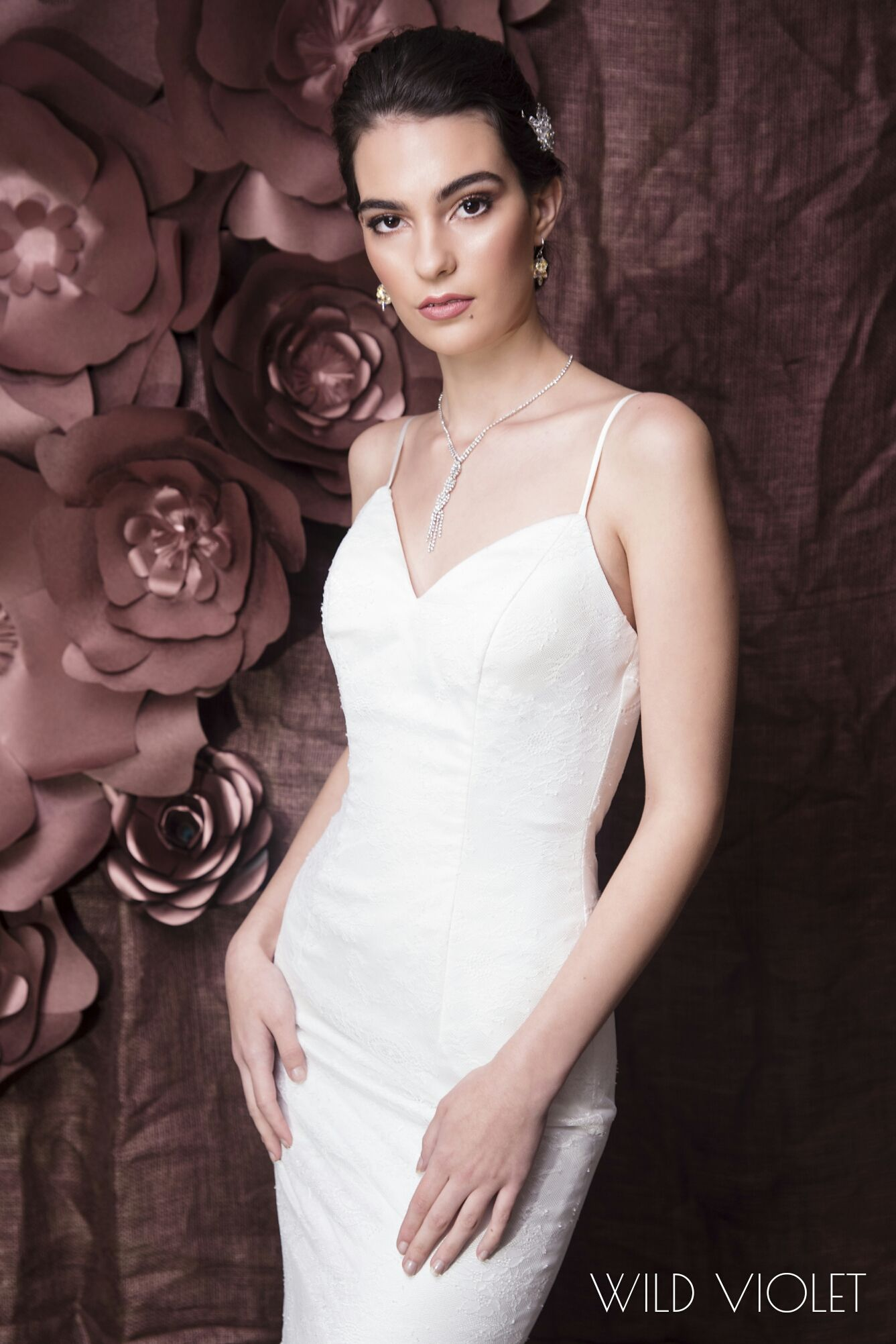 Queensland gorgeously soft chantilly lace wedding gown with low